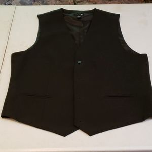J Ferrar Modern fit dress suit vest sz m/m black